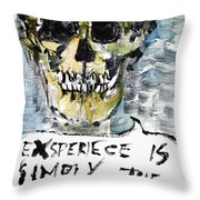 Skull Quoting Oscar Wilde.4 Throw Pillow by Fabrizio Cassetta