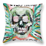 Skull Quoting Oscar Wilde.7 Throw Pillow by Fabrizio Cassetta