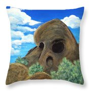 Skull Rock Throw Pillow by Anastasiya Malakhova