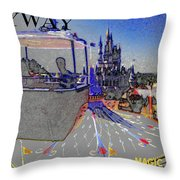 Skway Magic Kingdom Throw Pillow by David Lee Thompson