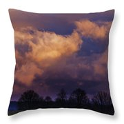 Sky Drama Throw Pillow by Thomas R Fletcher