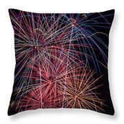 Sky Full Of Fireworks Throw Pillow by Garry Gay