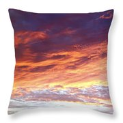 Sky On Fire Throw Pillow by Les Cunliffe