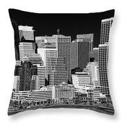Skyline San Francisco Throw Pillow by Ralf Kaiser