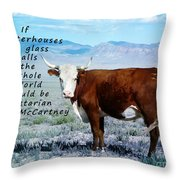 Slaughterhouses Throw Pillow by Janice Rae Pariza