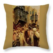 Slave Auction Throw Pillow by Fabbio Fabbi