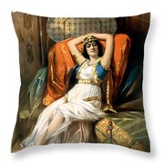 Slave Of The Orient Throw Pillow by Terry Reynoldson