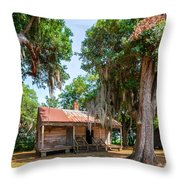 Slave Quarters 2 Throw Pillow by Steve Harrington