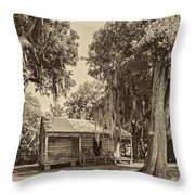 Slave Quarters Sepia Throw Pillow by Steve Harrington