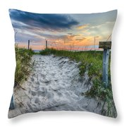 Sleeping Bear National Lakeshore Sunset Throw Pillow by Sebastian Musial