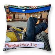 Sleeping Pirate Throw Pillow by Carla Parris
