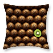 Sliced Kiwi Between Group Throw Pillow by Johan Swanepoel