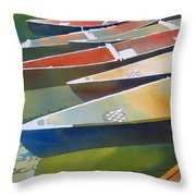 Slices Throw Pillow by Kris Parins