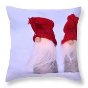 Small Santa Claus Throw Pillow by Toppart Sweden