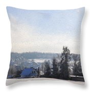 Small Village Throw Pillow by Aged Pixel