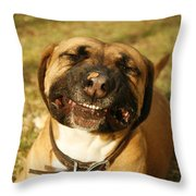 Smiling Throw Pillow by Kristia Adams