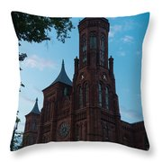Smithsonian Castle Dawn Throw Pillow by Steve Gadomski
