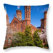 Smithsonian Castle Wall Throw Pillow by Inge Johnsson