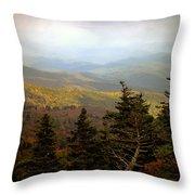 Smokey Mountain High Throw Pillow by Karen Wiles