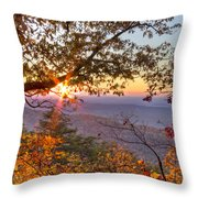 Smoky Mountain High Throw Pillow by Debra and Dave Vanderlaan