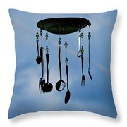 Smoky Mountain Windchime Throw Pillow by Christi Kraft