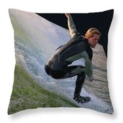 Smooth Ride Throw Pillow by Mariola Bitner
