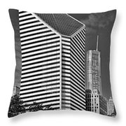 Smurfit-stone Chicago - Now Crain Communications Building Throw Pillow by Christine Till