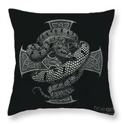 Snake Cross Throw Pillow by Stanley Morrison