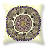 Snake Mandala Throw Pillow by Anastasiya Malakhova