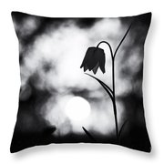Snakes Head Fritillary Monochrome Throw Pillow by Tim Gainey