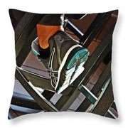 Sneaker Throw Pillow by Sarah Loft