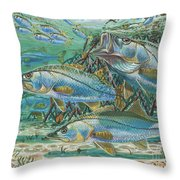 Snook attack In0014 Throw Pillow by Carey Chen