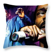 Snoop Dogg Artwork Throw Pillow by Sheraz A
