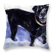 Snow Belle Throw Pillow by Molly Poole