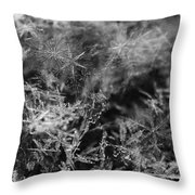 Snow Constellation Throw Pillow by Rona Black