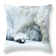 Snow Dream Throw Pillow by Julie Palencia