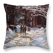 Snow in The City Throw Pillow by Jack Skinner