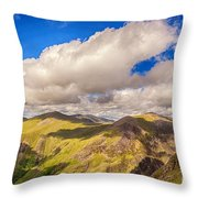 Snowdonia Throw Pillow by Jane Rix