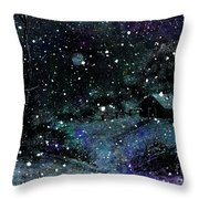 Snowfall At Night Throw Pillow by Barbara Griffin
