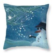 Snowman By Jrr Throw Pillow by First Star Art