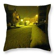 Snowy Night Throw Pillow by Giuseppe Epifani
