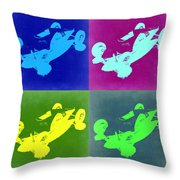So Cal Belly Tanker Throw Pillow by Naxart Studio