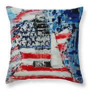 So Proudly We Hail Throw Pillow by Dan Campbell