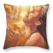Soaking In Glory Throw Pillow by Tamer and Cindy Elsharouni