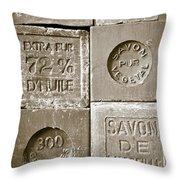 Soaps Throw Pillow by Frank Tschakert