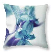 Soft Blues Throw Pillow by Priska Wettstein
