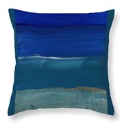 Soft Crashing Waves- Abstract Landscape Throw Pillow by Linda Woods