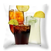 Soft Drinks Throw Pillow by Elena Elisseeva