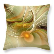Soft Wings Throw Pillow by Anastasiya Malakhova