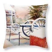 Softly Christmas Snow Throw Pillow by Kip DeVore